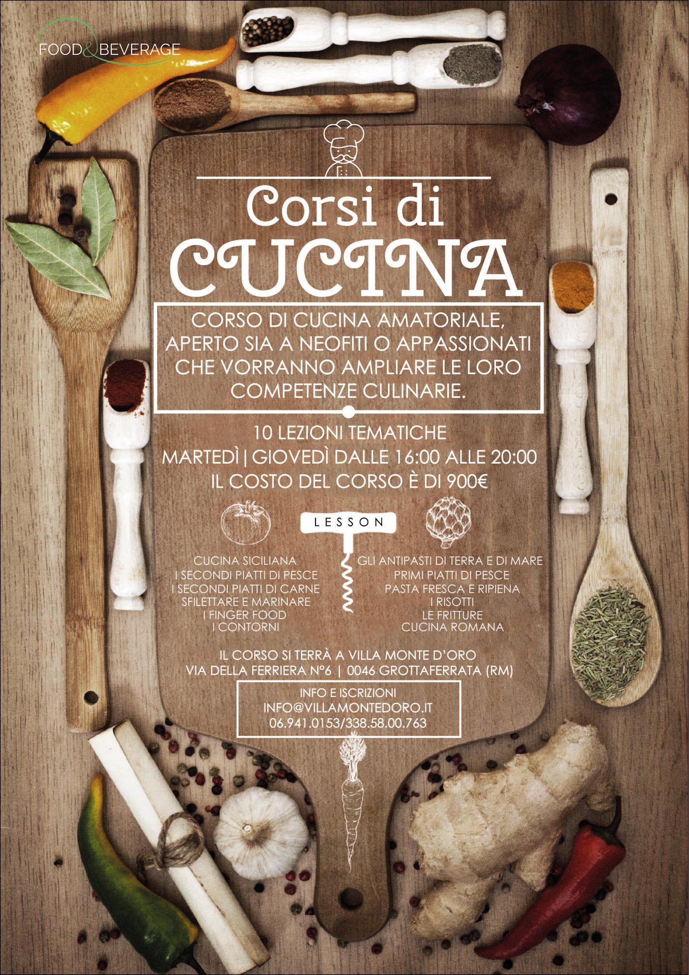 Corsi di cucina amatoriale roma